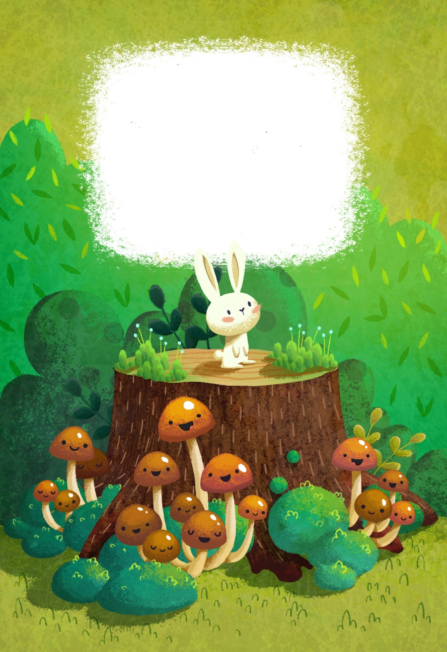 rabbit forest mushrooms
