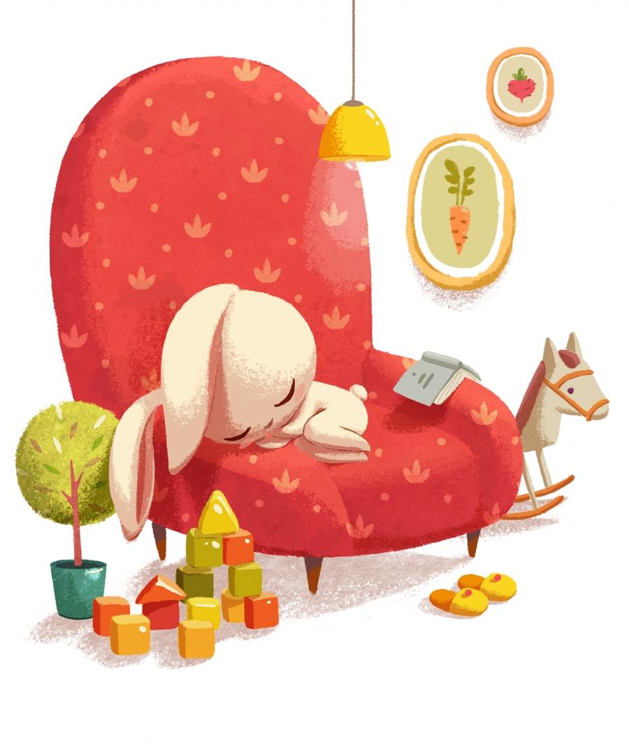 rabbit chair sleep