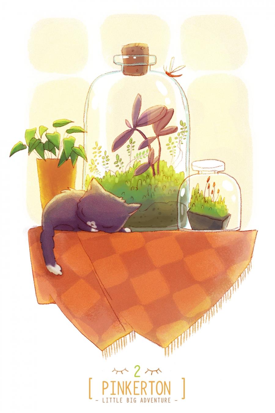 pinkerton collection cat illustration