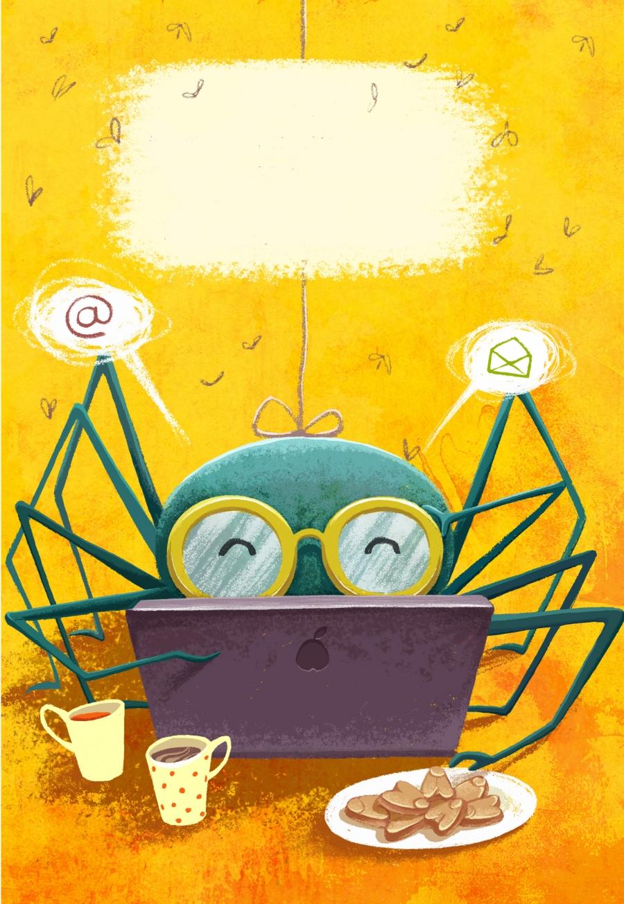 spider net illustration
