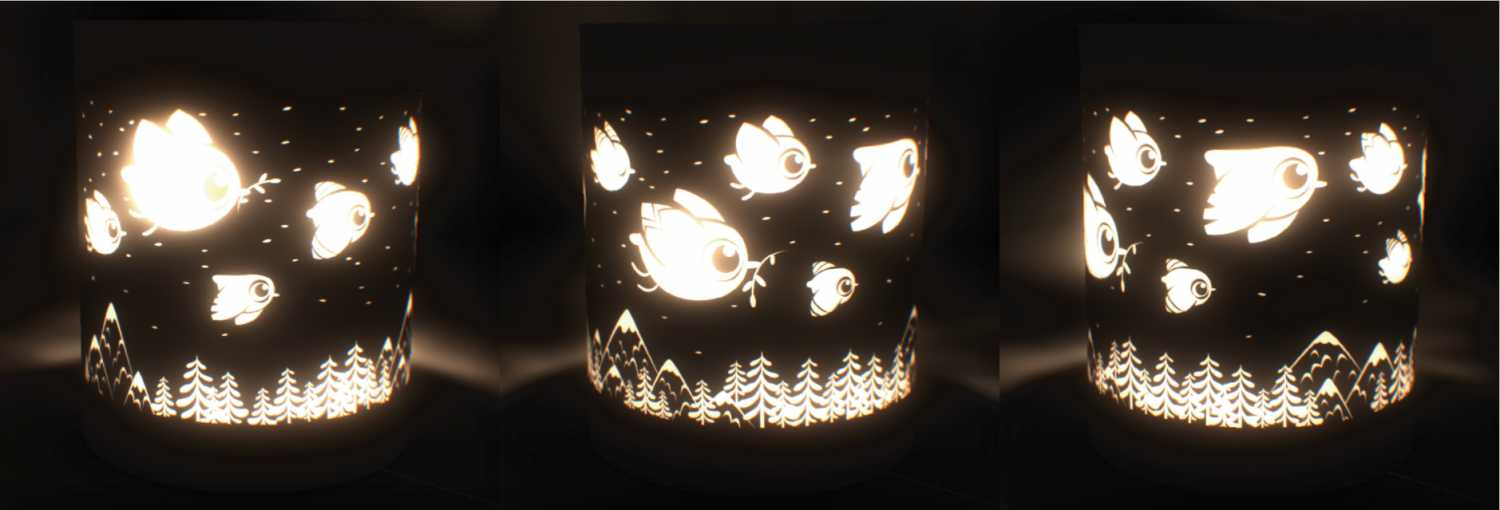 cut out the darkness lantern design flying birds